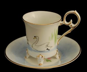Swan Lake Footed Demitasse