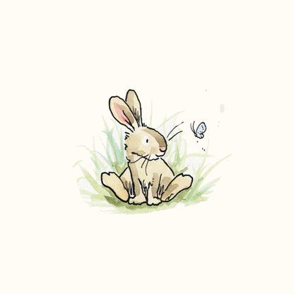 Baby Rabbit with Butterfly tile by Anita Jeram