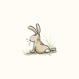 Looking Rabbit Splashback Tile by Anita Jeram
