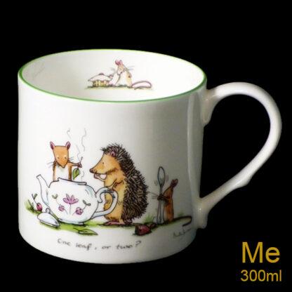 one leaf or two medium mug