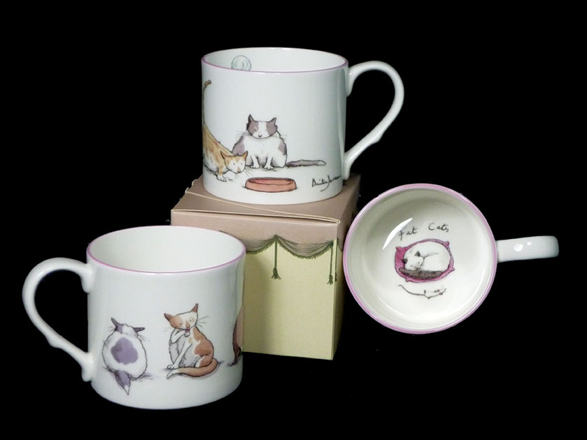 Bone China Mugs for Cat Lovers