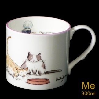 Fat Cat bone china mug