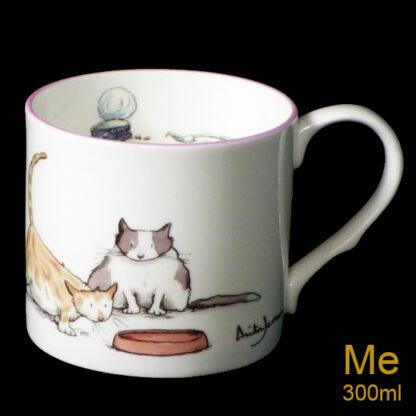Fat Cat bone china mug