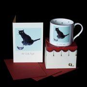 GSQ38 All Wide Eyed Mug & Card Set by Julian Williams