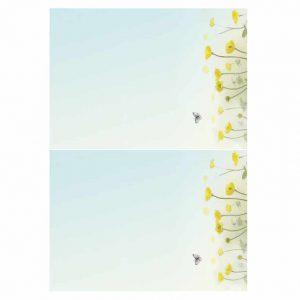 Buttercups Horizontal Format folded insert