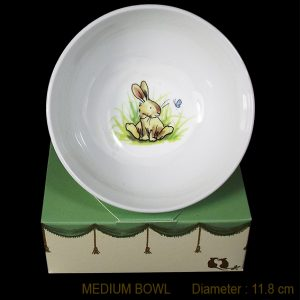 KBMMR4 Bunny with Butterfly Bowl