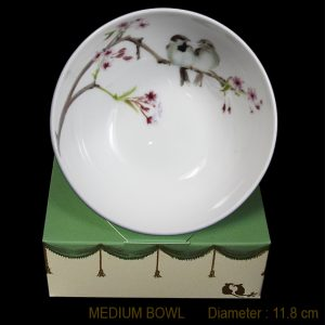KBMB29 Sparrows & Blossom Medium Bowl