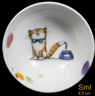 Small Artist Cat Bowl