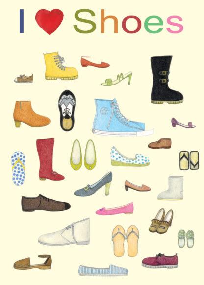 I Love Shoes Card