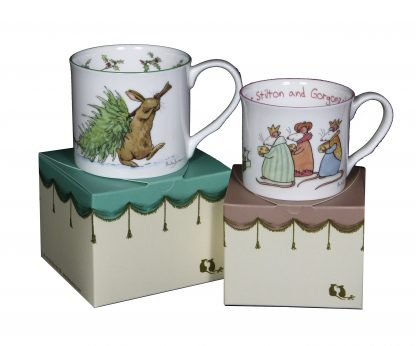 ideas for Christmas - bone China Mugs