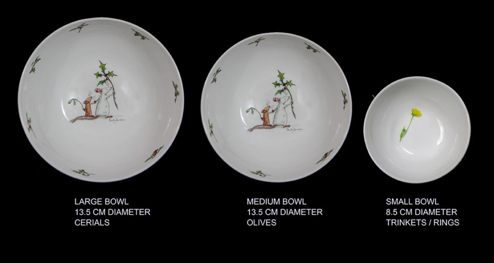 Christams Ceramics By Anita Jeram Two Bad Mice