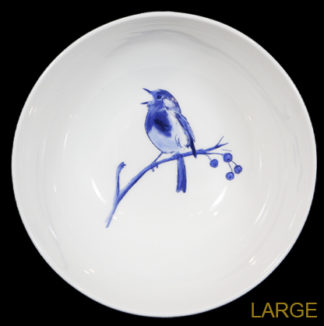 Blue Robin Large Bowl