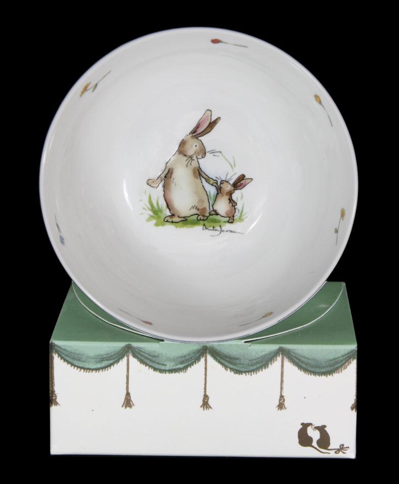 Rabbits Walking Together Cereal Bowl