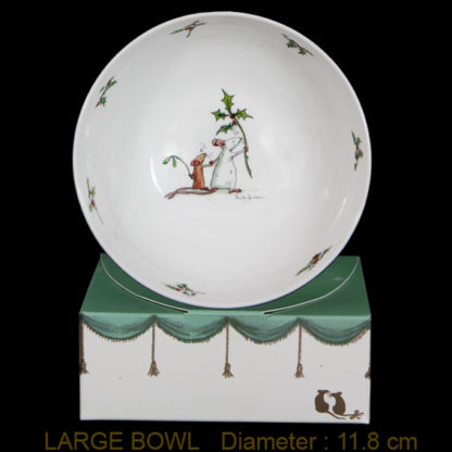 Large Christmas Cereal Bowl