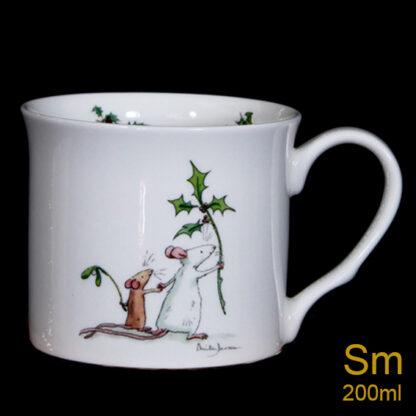 Here he comes Christmas mug