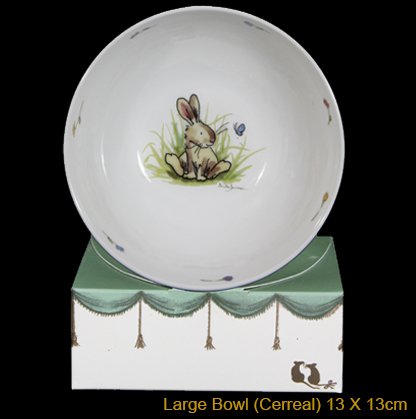 Rabbit and Butterfly Bowl by Anita Jeram