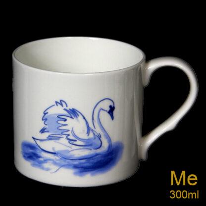 Single Blue Swan Medium Sized Mug