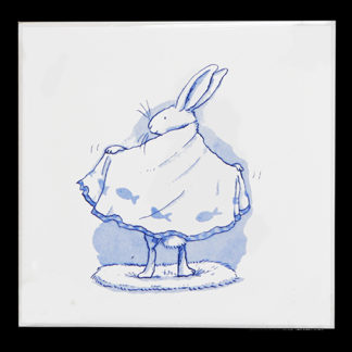 Blue Rabbit Towelling by Anita Jeram
