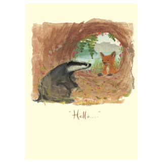 Hello Badger Greeting Card