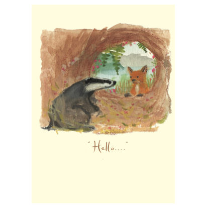 Hello Badger Greeting Card