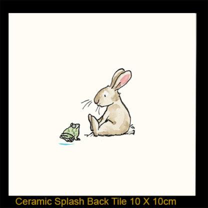 rabbit with frog by Anita Jeram