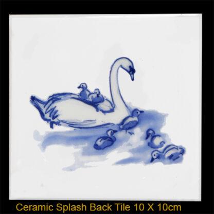 Swan Splashback tile by Julian Williams