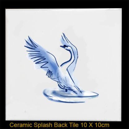 Swan splashback tile Julian Williams
