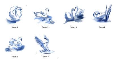 swans by Julian Williams