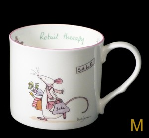 GSM83 Retail Therapy Mug & Card Gift Set