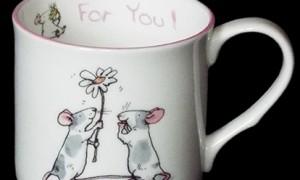 GSM22  For You Mug & Card Set by Anita Jeram